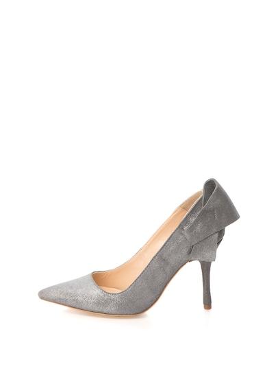 Mihaela Glavan Pantofi cu toc inalt, varf ascutit si apect lacuit Femei