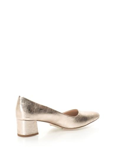 Esprit Pantofi cu varf ascutit si aspect metalic Femei