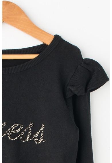 GUESS JEANS Pulover din tricot fin cu aplicatie cu strasuri Fete