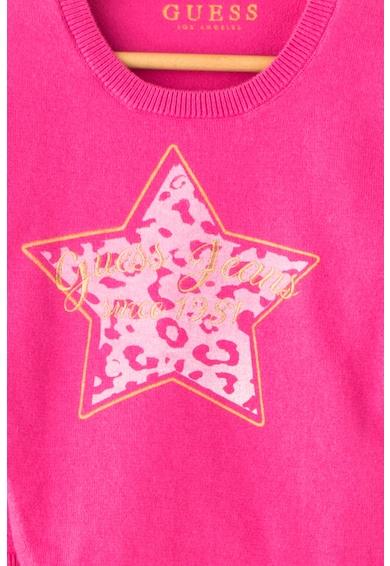 GUESS JEANS Pulover din tricot fin cu design stea Fete