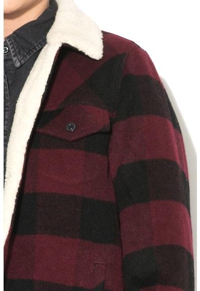 Levi's Jacheta din amestec de lana cu model in carouri si captuseala din material teddy Femei