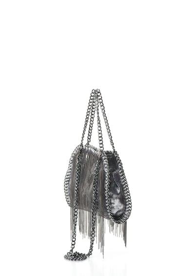 Zee Lane Geanta crossbody din piele intoarsa sintetica cu lanturi decorative Femei