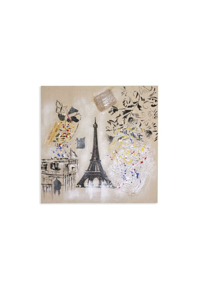 Mendola Art Tablou pictat manual Paris,  60x60 cm Femei