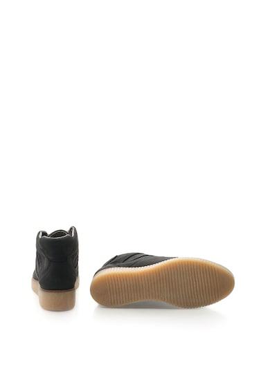Bullboxer Pantofi wedge negri de piele nabuc Femei