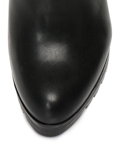 Bullboxer Botine negre de piele cu toc inalt Femei