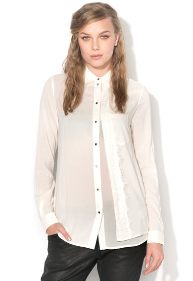 Diesel Camasa alb prafuit cu capse si garnitura din dantela Zira Femei