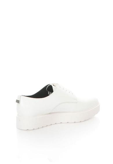 Calvin Klein Pantofi Oxford flatform albi Victorina Femei