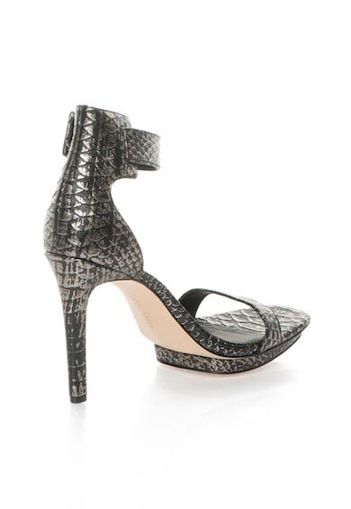 Calvin Klein Sandale argintiu cu negru de piele Vable Femei