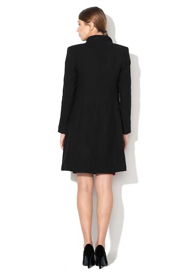 Rinascimento Palton negru din amestec de lana cu 3 nasturi Femei