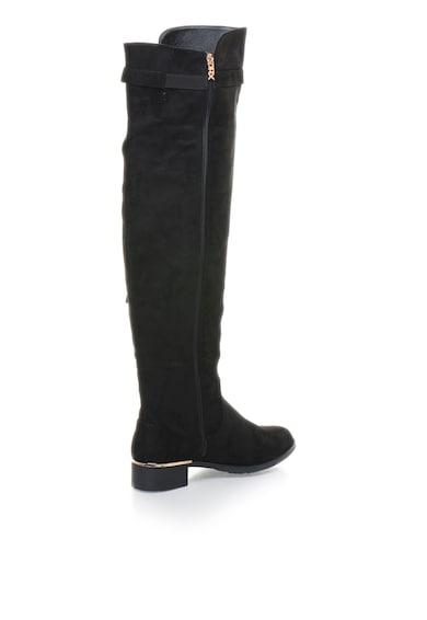 Xti Cizme negre inalte peste genunchi Femei