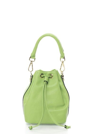 Zee Lane Geanta bucket mica verde fistic de piele Femei