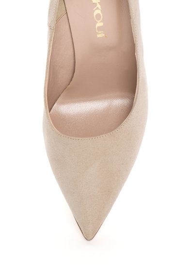 Oakoui Pantofi bej de piele intoarsa sintetica Miriam Femei