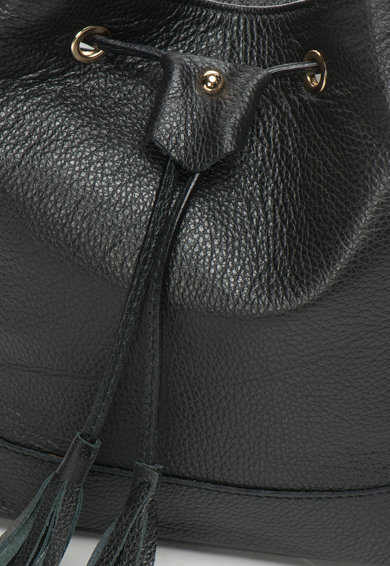 Zee Lane Geanta bucket neagra de piele Femei