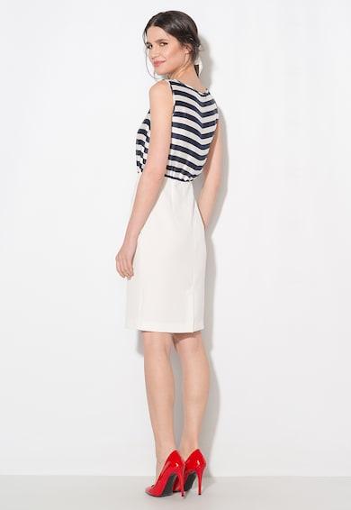 Zee Lane Collection Rochie bleumarin cu alb fara maneci Femei