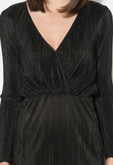 Zee Lane Collection Rochie neagra cu decolteu cache-coeur Femei