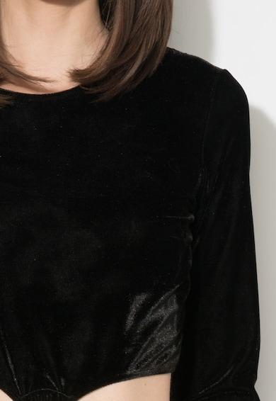 Zee Lane Collection Rochie neagra catifelata cu decupaje laterale Femei