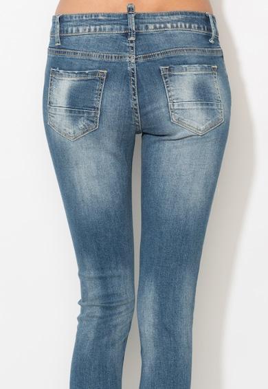 Zee Lane Denim Jeansi crop albastri cu aspect deteriorat Femei