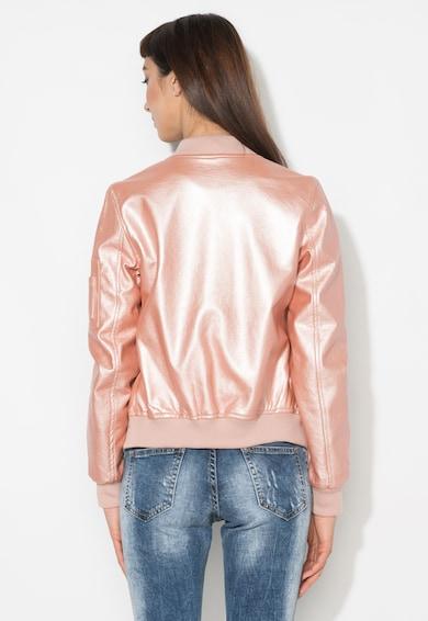 Zee Lane Denim Jacheta bomber roz metalizat Femei