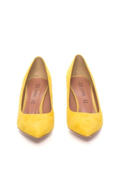 Zee Lane Pantofi galbeni de piele intoarsa cu varf ascutit Sofy Femei
