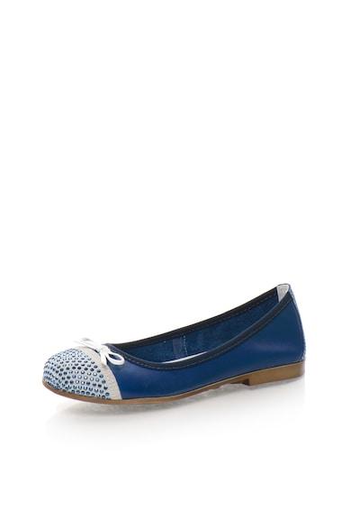 Zee Lane Balerini albastru cu gri cenusa de piele Fete