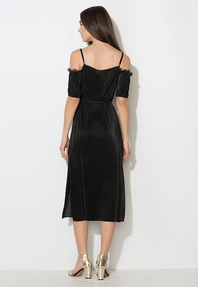 Zee Lane Collection Rochie neagra cu decolteu pe umeri si garnituri de dantela Femei