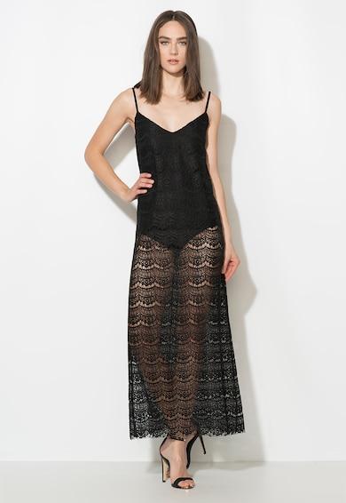 Zee Lane Collection Rochie neagra de dantela crosetata cu body Femei