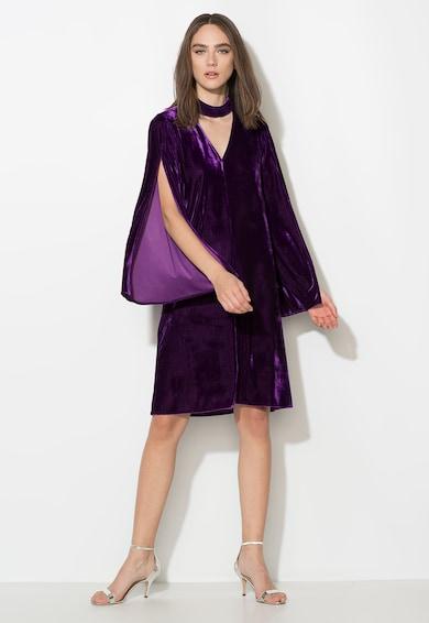 Zee Lane Collection Rochie violet tyrian catifelata cu maneci evazate Femei