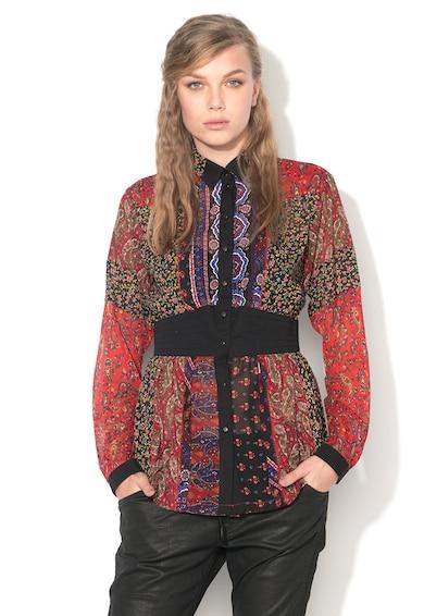 Diesel Camasa multicolora de sifon cu imprimeuri diverse Ivy Femei