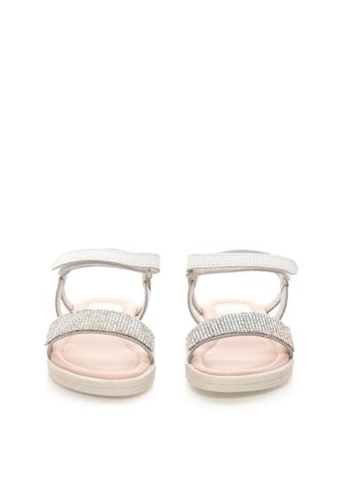 Gioseppo Sandale albe de piele cu strasuri Tiara Baieti