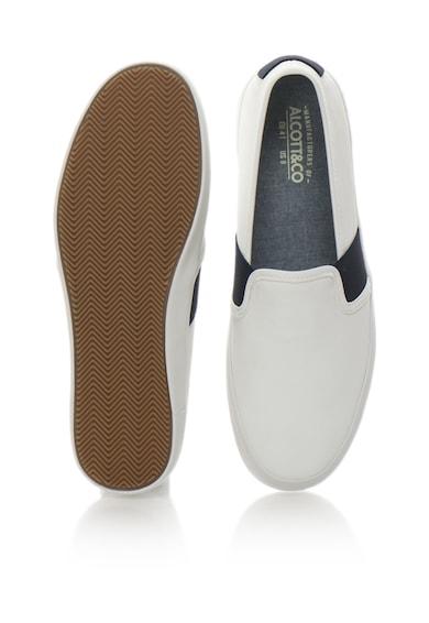 Alcott Pantofi slip-on alb cu bleumarin Barbati