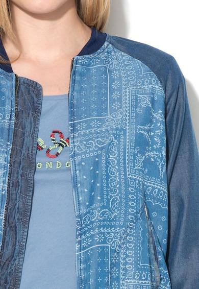 Pepe Jeans London Jacheta bomber albastru inchis de lyocell Willow Femei