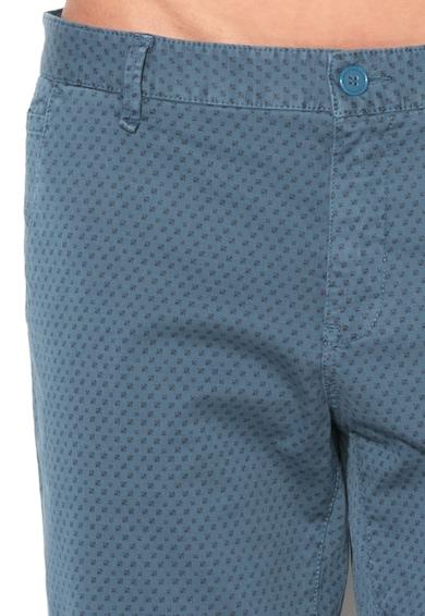 United Colors of Benetton Pantaloni chino slim fit albastru mineral cu model Barbati