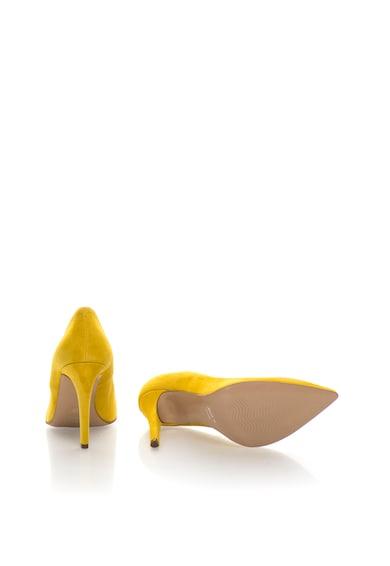 Zee Lane Collection Pantofi stiletto galbeni de piele intoarsa Femei