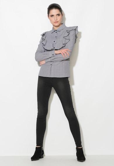 Zee Lane Denim Camasa negru cu alb cu model gingham Femei