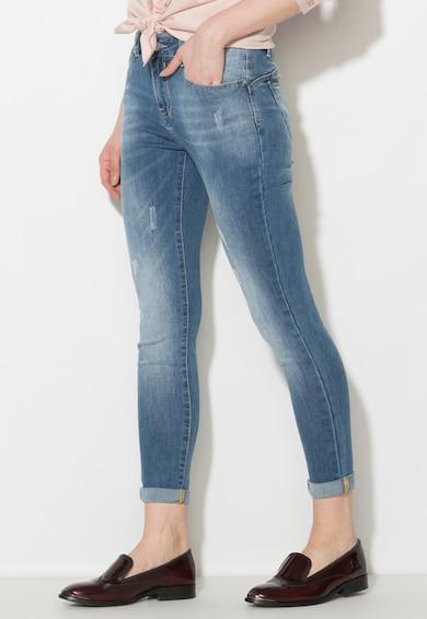 Zee Lane Denim Jeansi skinny albastri cu rupturi decorative discrete Femei