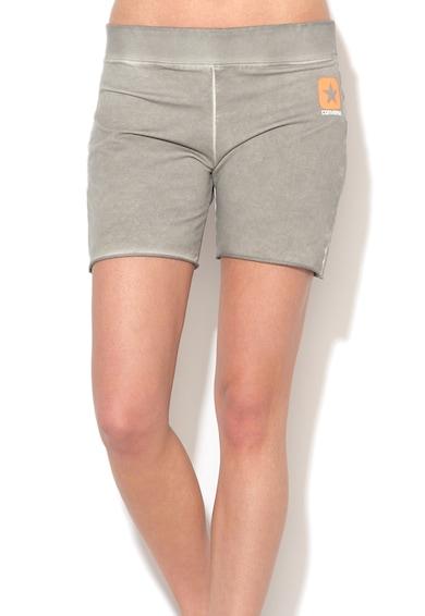 Converse Pantaloni scurti sport gri stins cu model logo Femei