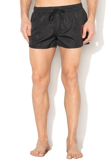 Diesel Pantaloni scurti de baie negri cu model emblematic Sandy Barbati
