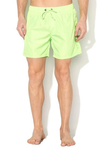 Diesel Pantaloni scurti de baie verde neon Wave Barbati