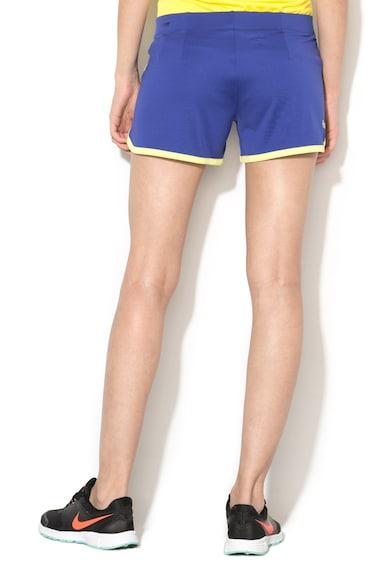 Asics Pantaloni scurti pentru tenis albastru indigo cu verde lime Femei