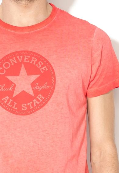 Converse Tricou rosu stins cu imprimeu logo Barbati
