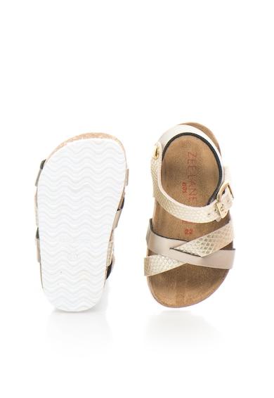 Zee Lane Sandale auriu deschis cu model reptila Fete