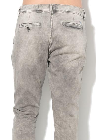 Pepe Jeans London Pantaloni jogger gri cu aspect de denim Cosie Femei