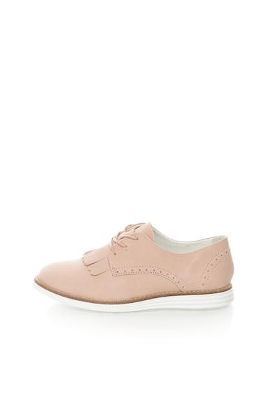 Bullboxer Pantofi derby roz prafuit de piele cu franjuri Femei