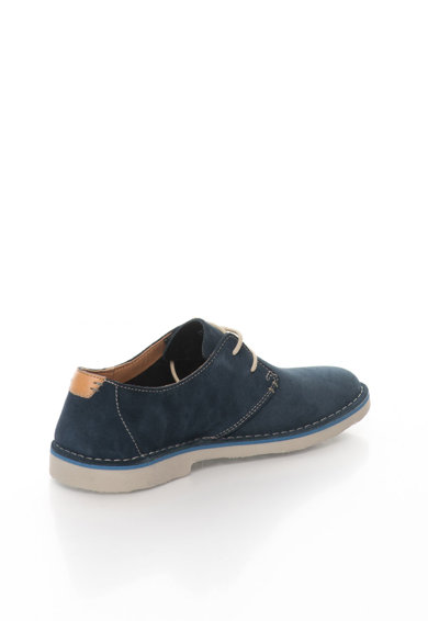 Clarks Pantofi bleumarin de piele intoarsa Jareth Barbati