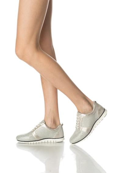 Bullboxer Pantofi sport argintii cu aspect stralucitor Femei