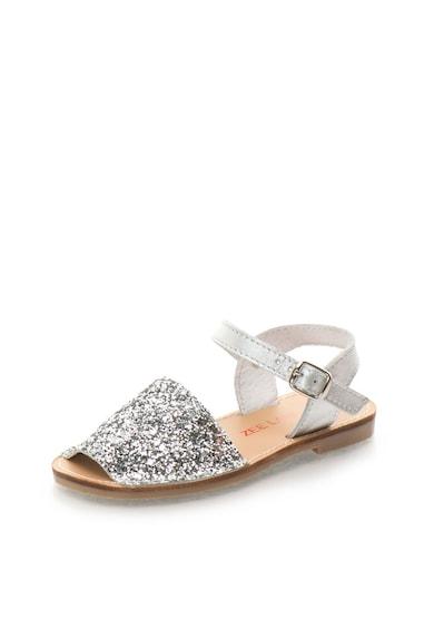 Zee Lane Sandale slingback argintii stralucitoare de piele Asia Fete
