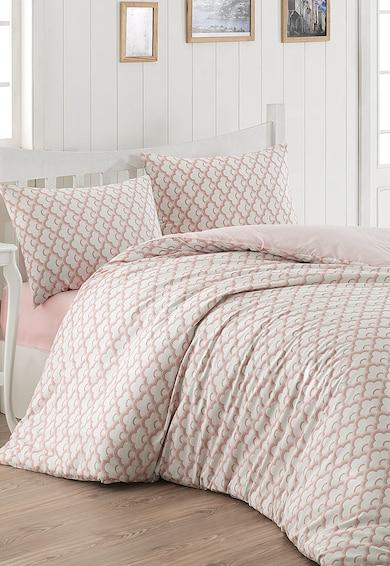 Leunelle Lenjerie de pat alb cu roz Luna Femei
