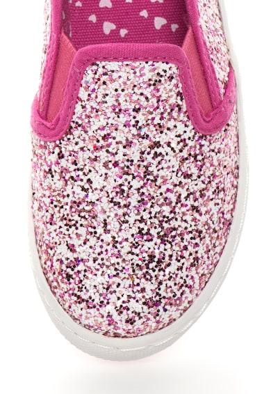 Gioseppo Pantofi slip-on alb cu roz zmeuriu stralucitori Kopita Baieti