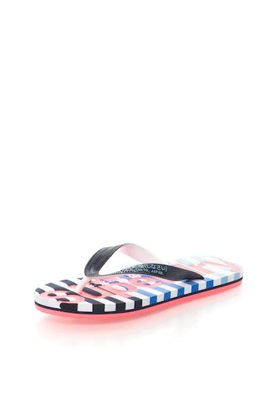 SUPERDRY Papuci flip-flop negru cu alb Eva Femei