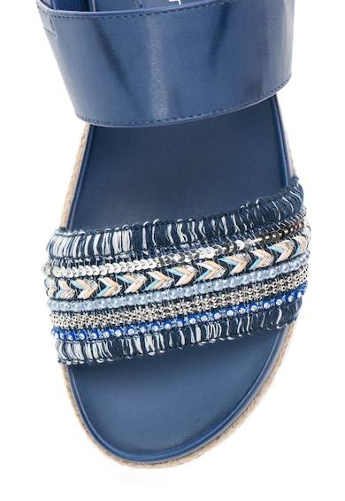 Francesco Milano Sandale flatform albastre cu decoratiuni Femei